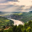 Play of light beams over valley of Moselle river — Stock Photo #30671313