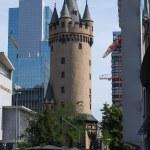 Frankfurt streets. Eschenheim Tower — Stock Photo