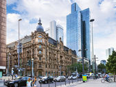 Frankfurt streets. Gallusanlage. — Stock Photo