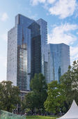 Frankfurt streets. Commerzbank AG building. — Stock Photo