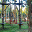Adventure forest climbing park — Stock Photo