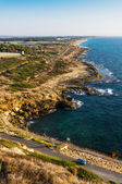 Coast line near the northern border of Israel — Stock Photo