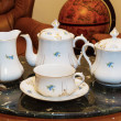 Vintage porcelain tea set — Stock Photo