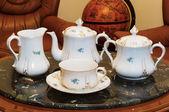 Vintage porcelain tea set — Stock Photo