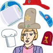 Illustration of Many Hats — Imagen vectorial