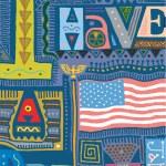 Vector illustration of the American dream — Stock Vector