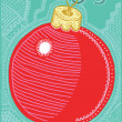 Vector illustration of a Christmas bauble — Imagens vectoriais em stock
