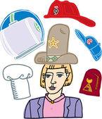 Illustration of Many Hats — Stock Vector