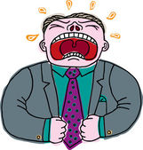 Illustration of Frustrated Employee — Stock Vector