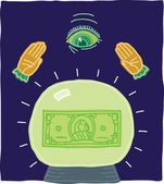 Illustration of Economic Fortunes — Stock Vector