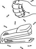 Illustration of Stapling — Stock Vector