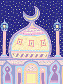 Vector illustration of a mosque — Vector de stock