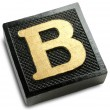 Photograph of Game Tile Letter B — Foto Stock