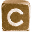 Photograph of Sepia Wooden Block Letter C — Stock Photo