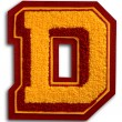 Photograph of School Sports Letter  - Burgundy and Gold D — Foto Stock