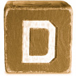 Photograph of Sepia Wooden Block Letter D — Stock Photo