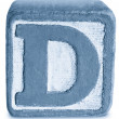 Photograph of Blue Wooden Block Letter D — Stock Photo