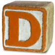 Photograph of Orange Wooden Block Letter D — Stock Photo #29369523