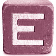Stock Photo: Photograph of MagentWooden Block Letter E
