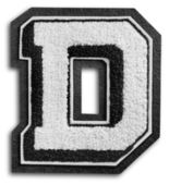 Photograph of School Sports Letter - Black and White D — Stock Photo