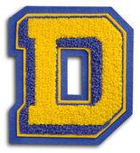 Photographie de la lettre de l'école de sport - bleu et jaune d — Photo
