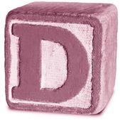 マゼンタの木製ブロック手紙 d の写真 — ストック写真