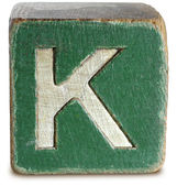 Photograph of Green Wooden Block Letter K — Стоковое фото