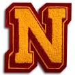 Photograph of School Sports Letter  - Burgundy and Gold N — Stock Photo