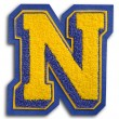 Stock Photo: Photograph of School Sports Letter - Blue and Yellow N