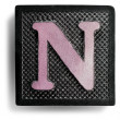 Photograph of Game Tile Letter N — Stock Photo