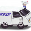 3D Sculpture of Delivery Truck — Stock Photo