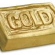3D Sculpture of Gold Bar — Stock Photo