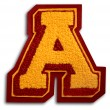 Photograph of School Sports Letter  - Burgundy and Gold A — Stock Photo