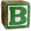 Stock Photo: Photograph of Green Wooden Block Letter B
