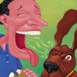 Illustration of Bad Breath — 图库照片
