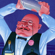 Stock Photo: Illustration of Bartender
