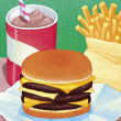 Illustration of Burger — Stock Photo