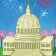 Vector Illustration of Capitol Building — Stock Photo