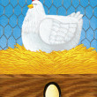 Stock Photo: Vector illustration of Chicken