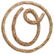 Photograph of Rope Letter O — Stock Photo #29372593