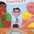 Illustration of Eating Contest — Stock Photo