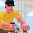 Stock Photo: Illustration of Contractor