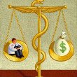 图库照片: Illustration of Medical Costs