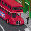 Illustration of Double Decker — Stock Photo
