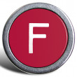 Photograph of Old Typewriter Key Letter F — Foto de Stock