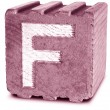 Photograph of Magenta Wooden Block Letter F — Photo