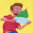 Stock Photo: Illustration of Boy With Gelatin Cake