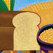 Illustration of Grain — Stock Photo