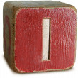 Photograph of Red Wooden Block Letter I — Stock Photo #29374181