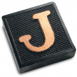 Photograph of Game Tile Letter J — Stock Photo